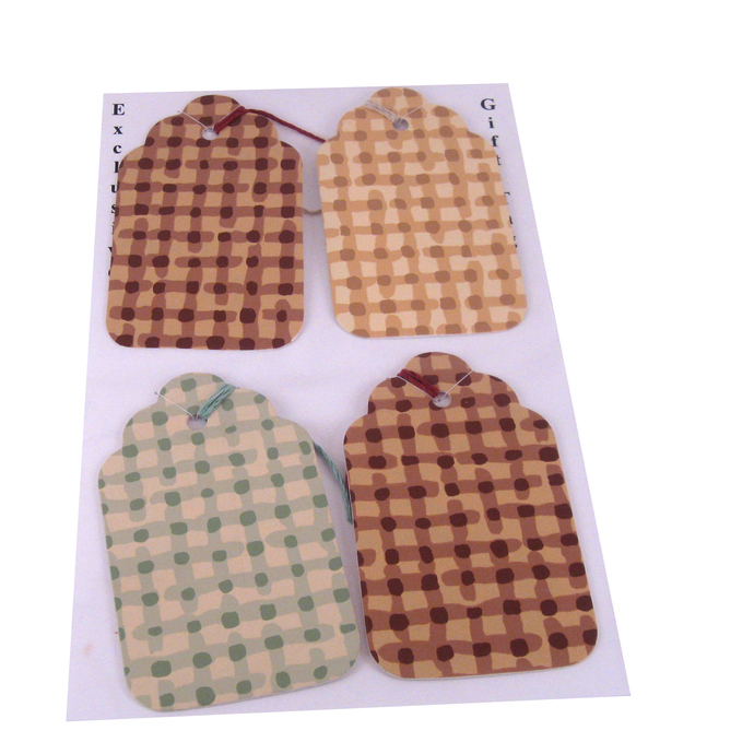Checkered Wallpaper Gift Tags