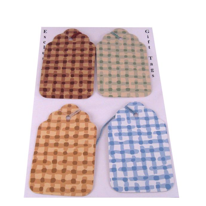 Checkered Wallpaper Gift Tag Set