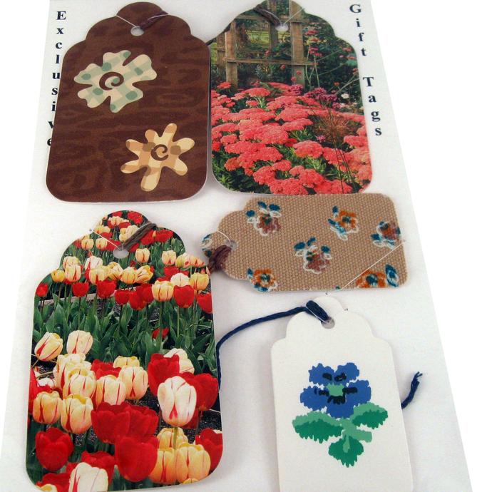 Garden Variety Flower Gift Tag Set