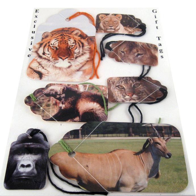 Wild Animal Gift Tag Set