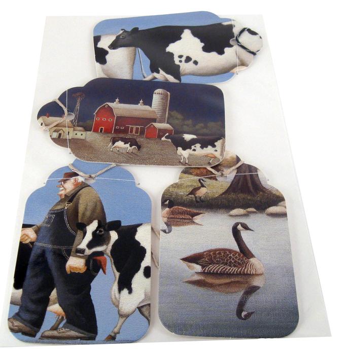 Cows Dairy Farm Gift Tag Set