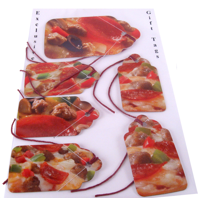 Recycled Pizza Boxes make Gift Tags