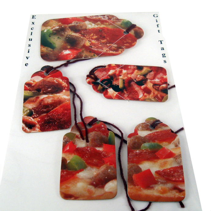 Handmade Pizza Gift Tag Set