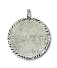 Pendant Pewter Round 2x2 in