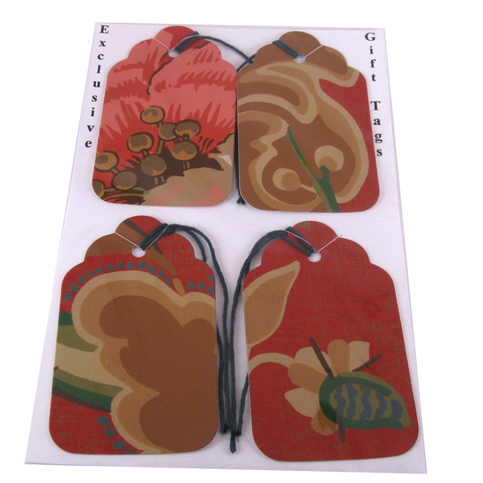 Flower Gift Tags from Wallpaper