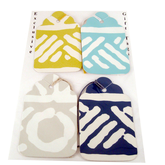 Colorful Gift Tag Set from Wallpaper