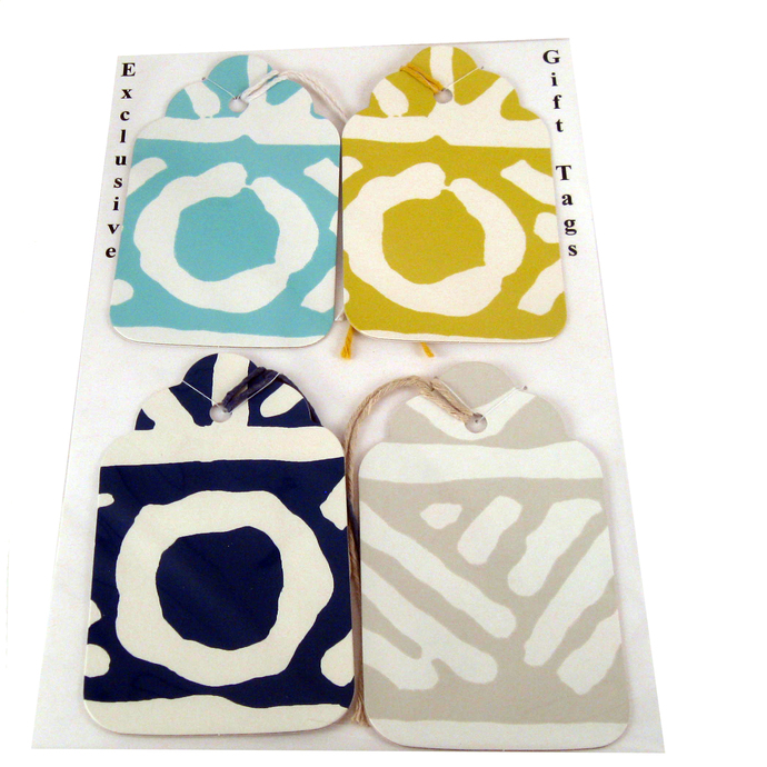 Bold Colorful Geometric Wallpaper Gift Tags