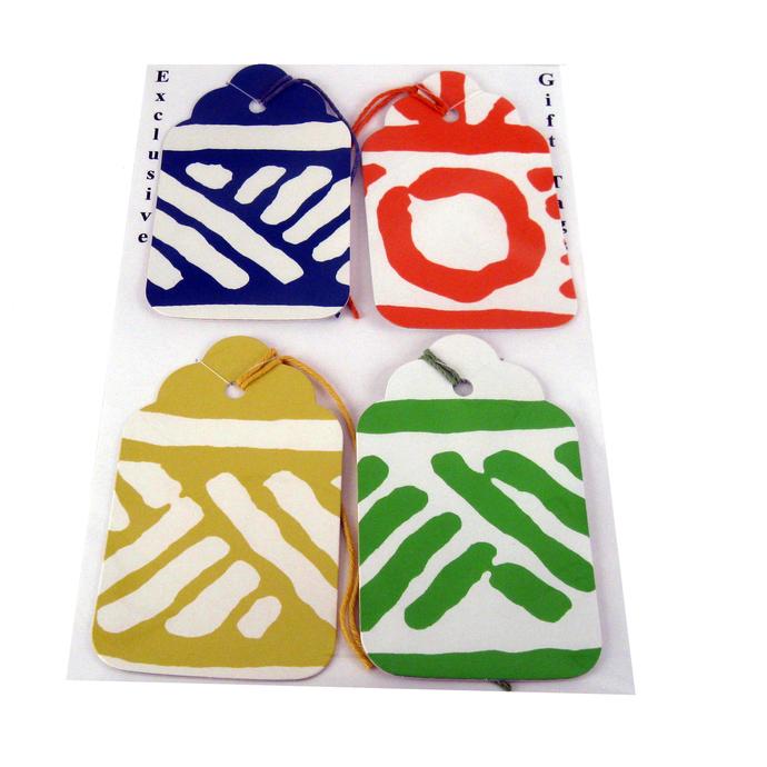 Handmade Geometric Gift Tag Set from Wallpaper