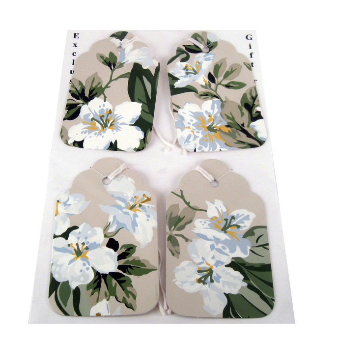 Handmade Flower Gift Tag Set from Wallpaper