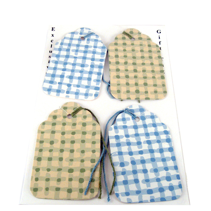 Checkered Wallpaper Gift Tag Set