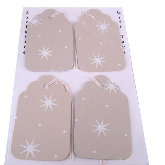 Handcrafted Stars Gift Tag Set