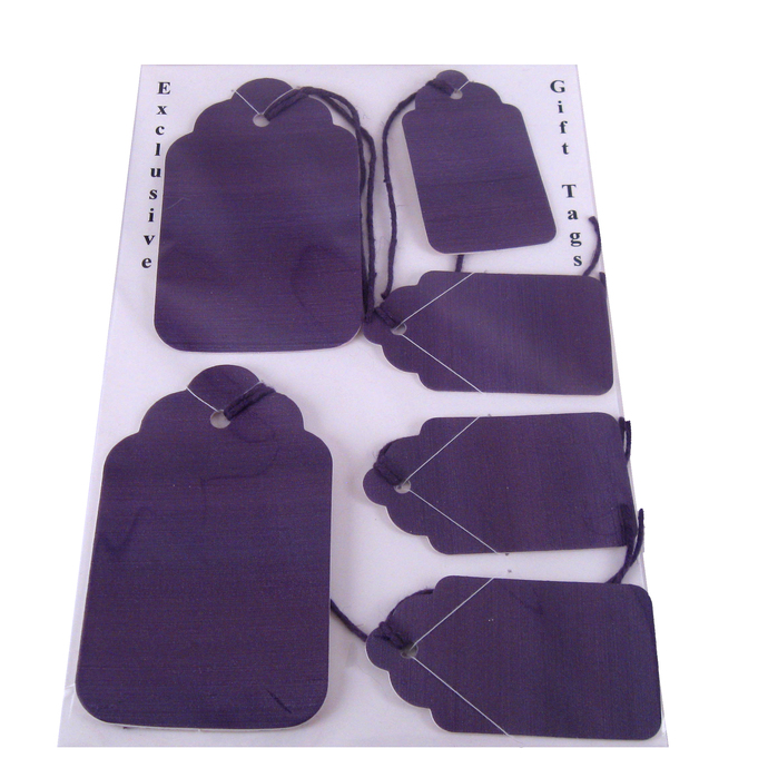 Purple Handcrafted Gift Tag Set