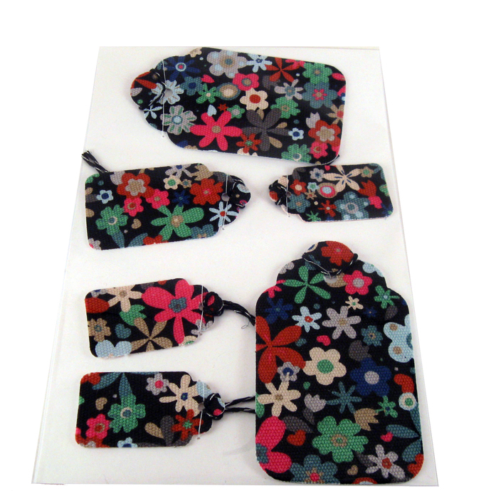 Handmade Floral Fabric Gift Tag Set