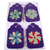 Purple Handmade Flower Gift Tag Set