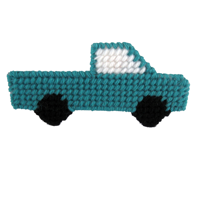 Freestanding Pickup Truck Christmas Ornament