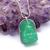 925 Sterling Silver Aventurine Diamond Buddha Pendant, Aventurine Buddha