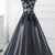 Blue Tulle Long Lace Prom Dresses, A Line Evening Party Dresses