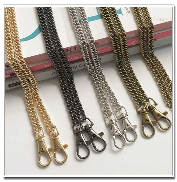 65cm to 160cm, purse chain (wide7.5mm) handbag chain with lobsters 4 colors