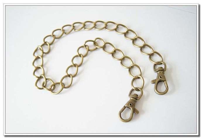 40cm, 80cm, 120cm, Anti brass light weight aluminium chains for purse