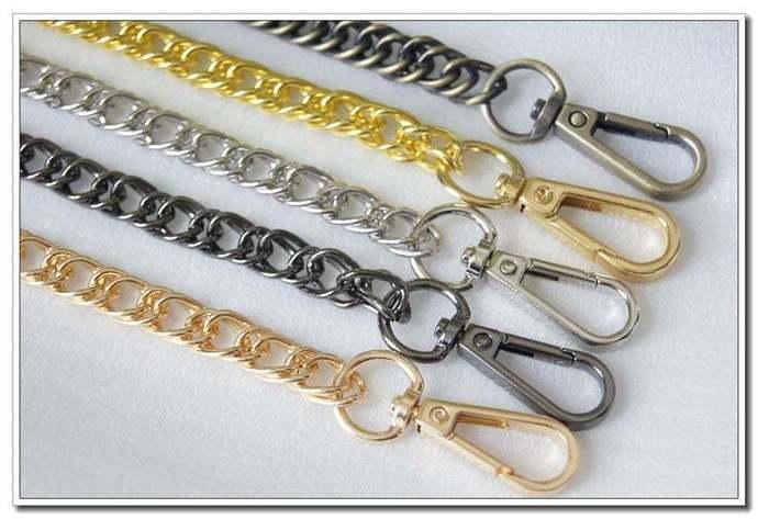 60cm, 80cm, 100cm, 120cm, 140cm purse chain handbag chain with lobsters 4 color