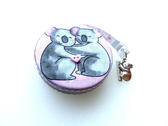 Copy of Measuring Tape Koalas on Pink Small Retractable Tape Measure