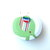 Tape Measure Green and Blue Rainbow Elephants Small Retractable Measuring Tape