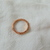 Judith Ripka rose gold clear czs sterling silver ring sz.7 vintage mint unused