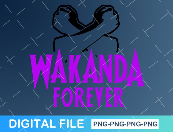 Wakanda Forever Digital Cut File // Black Panther DxF // EPS // PDF // PnG //