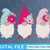 Gnome SVG, Spring SVG, Spring Gnome Svg Cut File for Cricut, Easter Gnome,
