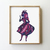 Alice in Wonderland counted cross stitch pattern fairy princess silhouette