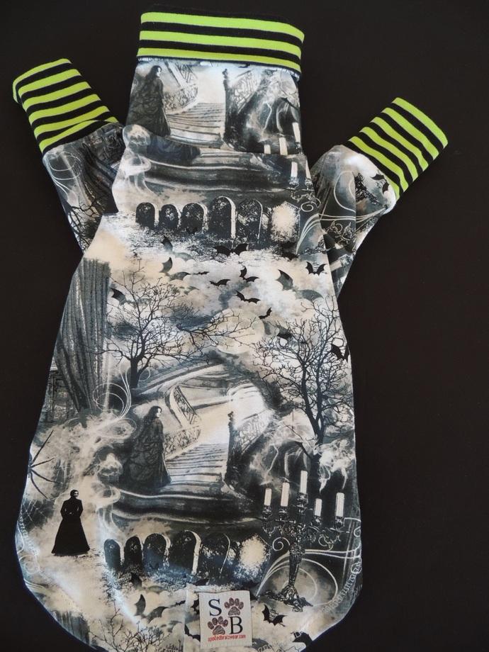 MEDIUM Spooky Cotton Knit Dog Shirt