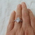 vintage Judith Ripka sterling silver clear marquis cut cz crystal ring sz.11