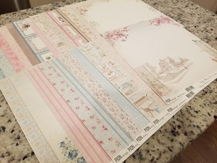 Pion Design Paper Kit - Cherry Blossom Lane