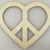 Heart Shaped Peace Sign / Laser Cut Wood