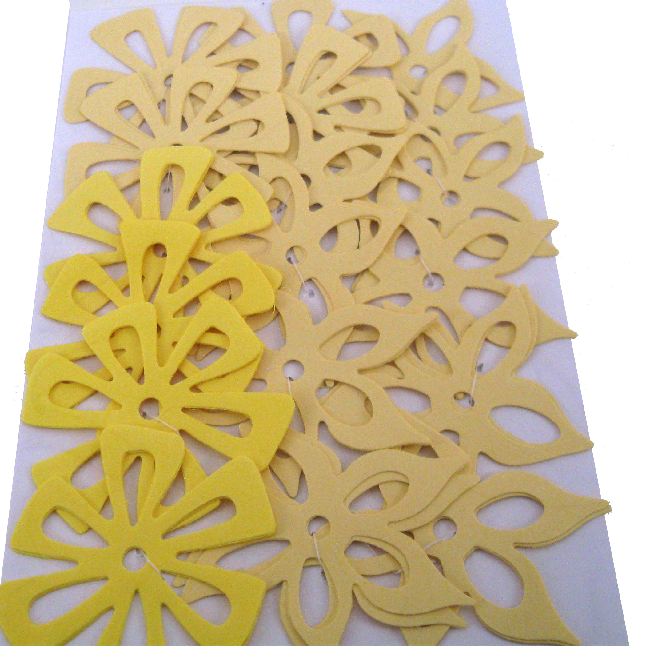Yellow Die Cut Flowers
