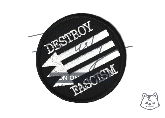 Destroy Fascism Iron On Patch