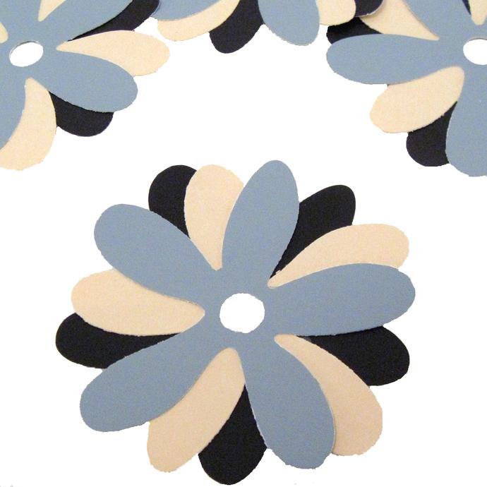 Recycled Paint Sample Die Cut Flowers