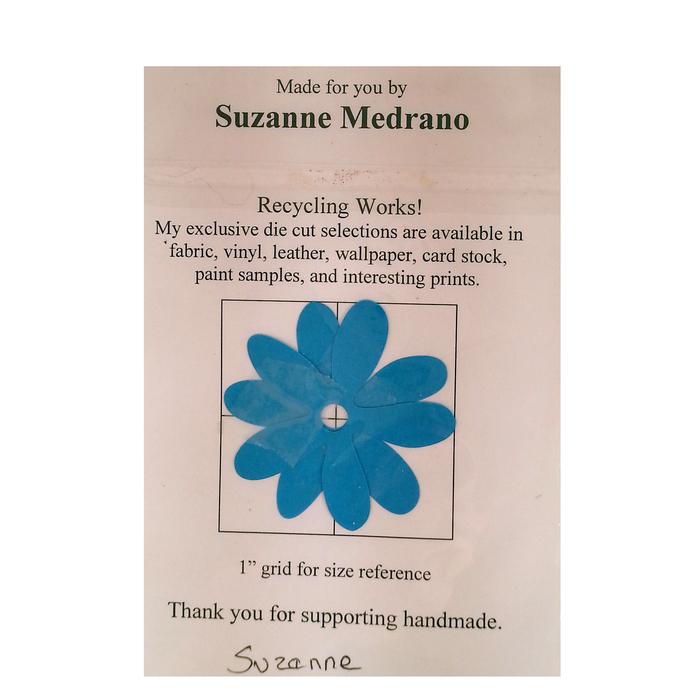 Die Cut Paint Sample Flowers Brown Blue Orange Recycled