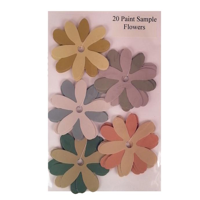 Die Cut Paint Sample Flowers Purple Gold Gray Recycled