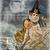 Halloween Mermaid Witch Digital Collage Greeting Card836