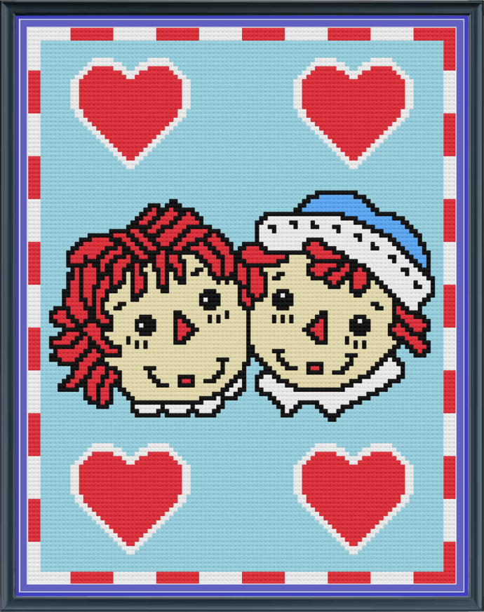 Raggedy Ann-Andy-Mini C2C-100x130