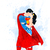 Superman Comics DC, superhero, Superman print poster, home decor, nursery room,
