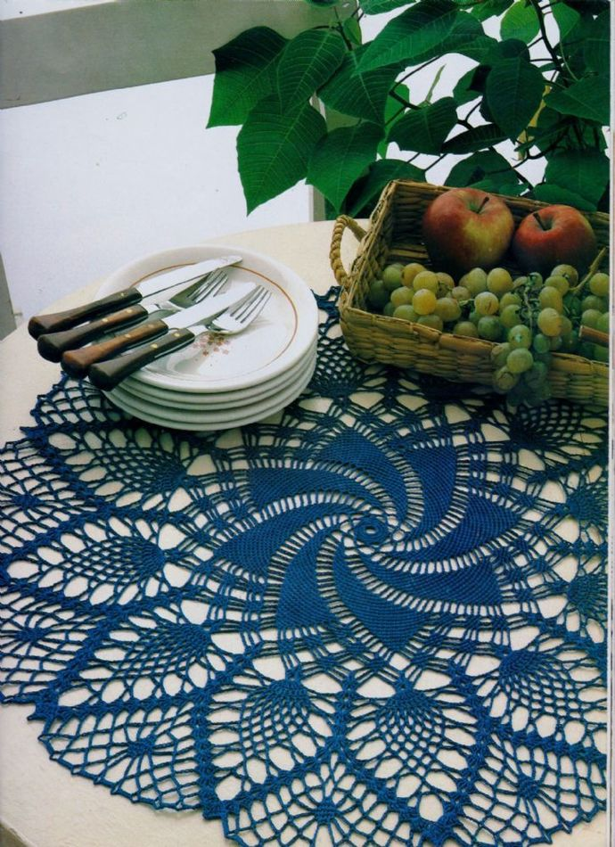 PDF Digital Download Vintage Crochet Pattern  Filet Lace Small Table Cloth or