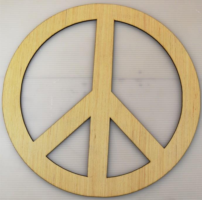 Peace Sign / Laser Cut Wood
