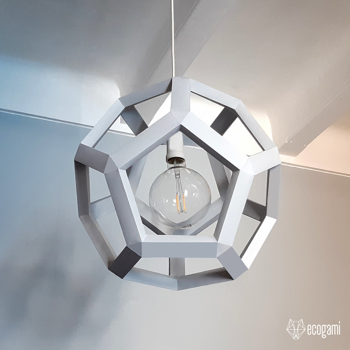 DIY paper lampshade HEXA, perfect for your lighting & ceiling décor