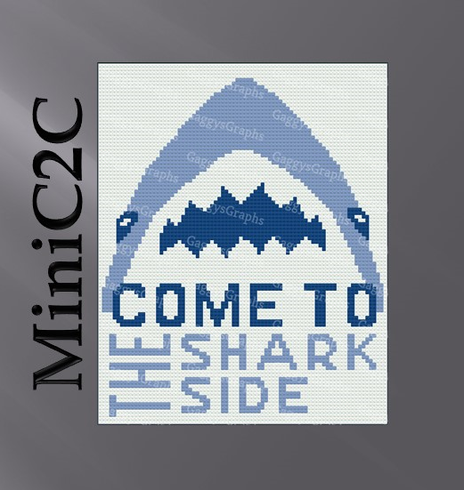 Come To The Shark Side MiniC2C - Graph + written line by line color coded block