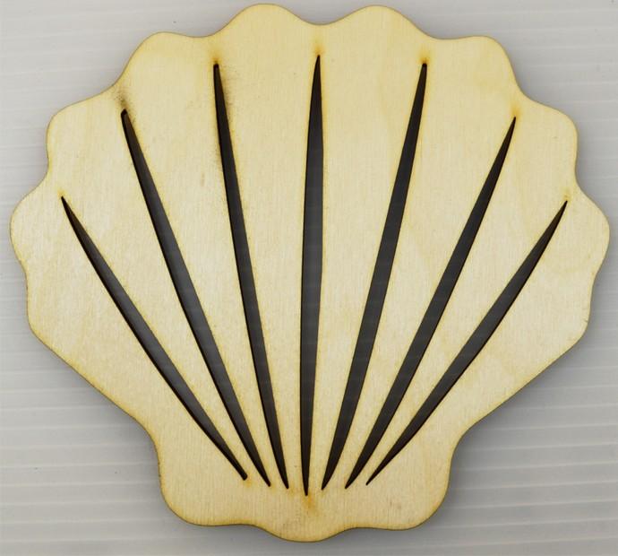 Scallop Seashell / Nautical Wood Cut Out / Laser Cut Wood