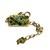 One of a kind olive green bracelet, adjustable length, large easy open clasp,