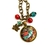 Limited edition Fall necklace, handcrafted art pendant with vintage style bird