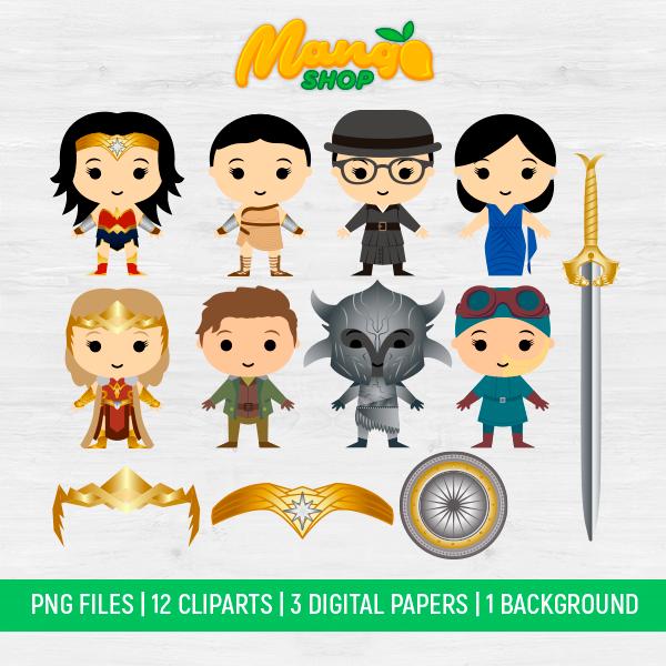 Wonder Woman PNG, Wonder Woman Clipart, Super Hero PNG, Wonder Woman, Instant